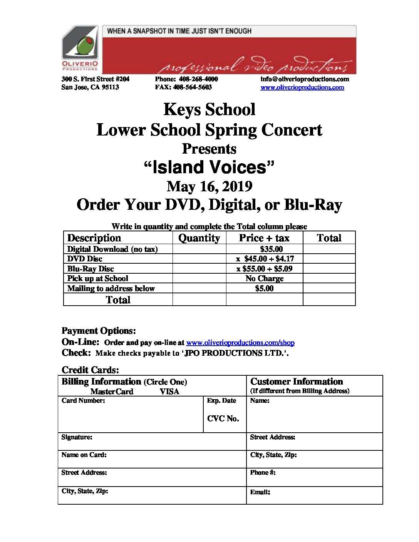 Keys School Lower Campus 2019 Spring Concert May 16, 2019